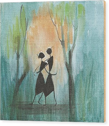 Couples Delight Wood Print by Chintaman Rudra