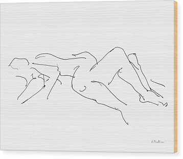 Couples Erotic Art 4 Wood Print by Gordon Punt