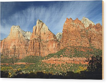 Court Of The Patriarch In Zion Wood Print by Pierre Leclerc Photography