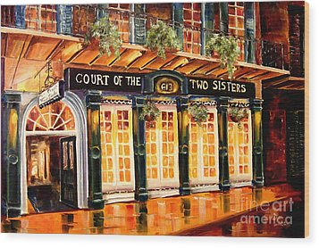 Court Of The Two Sisters Wood Print by Diane Millsap