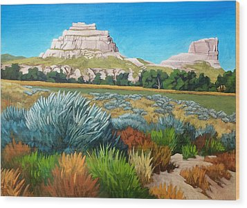Courthouse And Jail Rocks 2 Wood Print