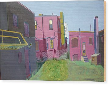 Courtyard View Wood Print by Debra Bretton Robinson