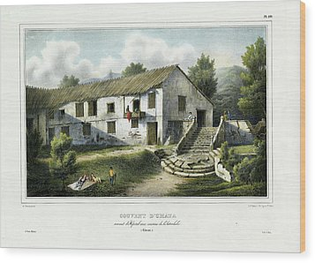 Couvent D Umata Convent In Umatic Wood Print by Sainson