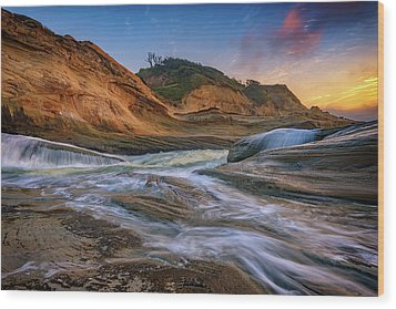 Cove At Cape Kiwanda, Oregon Wood Print by Rick Berk