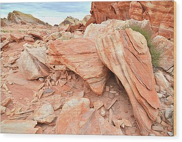 Wood Print featuring the photograph Cove Of Sandstone Shapes In Valley Of Fire by Ray Mathis