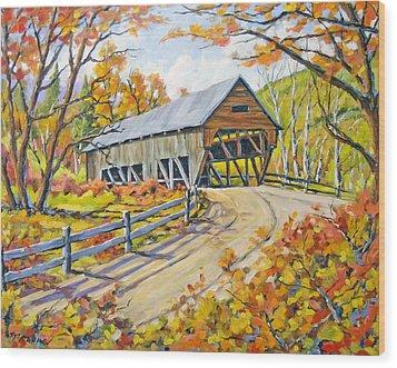 Covered  Bridge 2 Wood Print by Richard T Pranke