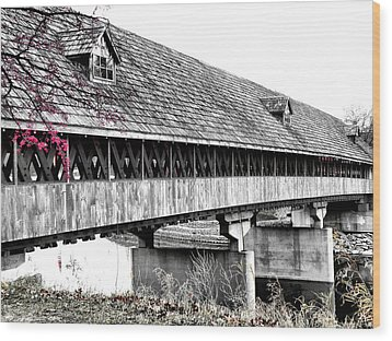 Covered Bridge 2 Wood Print