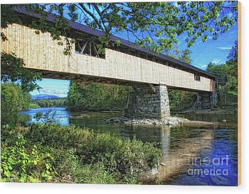 Wood Print featuring the photograph Covered Bridge by Gina Cormier