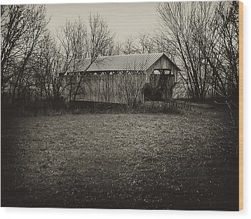 Covered Bridge In Upstate New York Wood Print by Bill Cannon