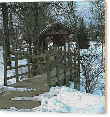 Covered Bridge Wood Print by Julie Grace
