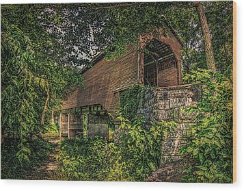 Wood Print featuring the photograph Covered Bridge by Lewis Mann