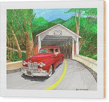 Covered Bridge Lincoln Wood Print by Jack Pumphrey