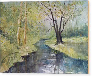Covered Bridge Park Wood Print