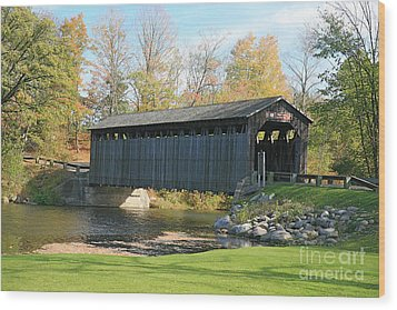 Covered Bridge Wood Print by Robert Pearson