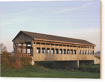 Wood Print featuring the photograph Covered Bridge To Rockwood by Bruce Bley