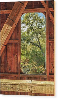 Wood Print featuring the photograph Covered Bridge Window by James Eddy