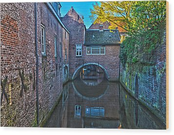 Covered Canal In Den Bosch Wood Print