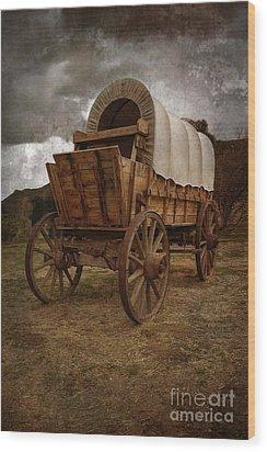 Covered Wagon 1 Wood Print