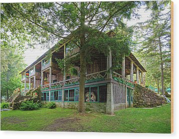 Wood Print featuring the photograph Covewood Lodge On Big Moose Lake by David Patterson