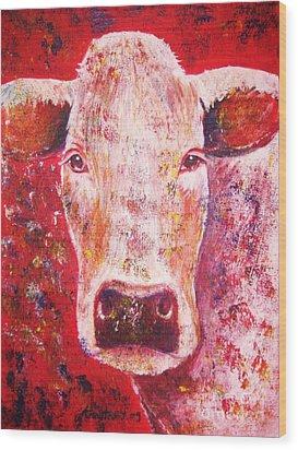 Cow Wood Print by Anastasis  Anastasi