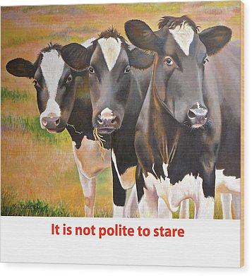 Cow Holstein Trio Wood Print