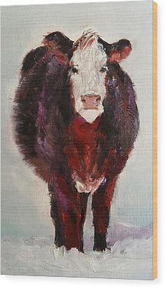 Cow Painting  Wood Print