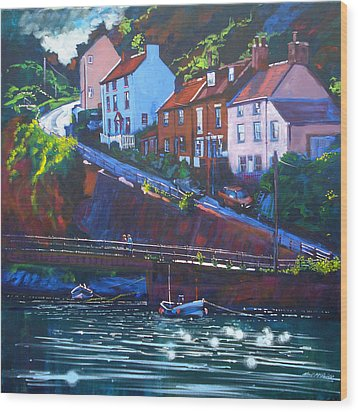 Cowbar - Staithes Wood Print by Neil McBride