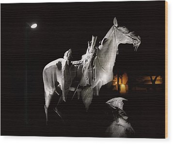 Cowboy At Rest Wood Print by Christine Till