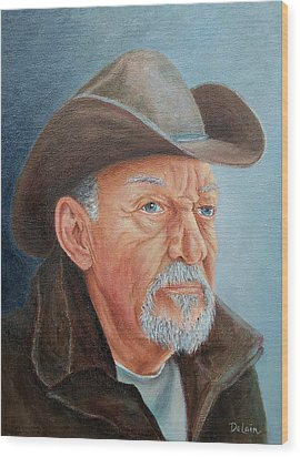 Cowboy Bob Wood Print by Susan DeLain