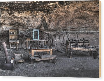 Cowboy Camp 1880s Wood Print