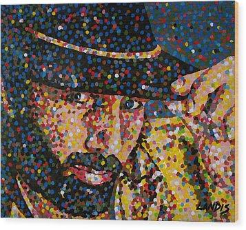 Cowboy Iv Wood Print by Denise Landis