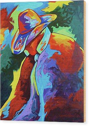 Cowboy Who Wood Print by Lance Headlee