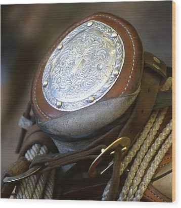 Cowboys Horn Wood Print