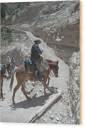 Wood Print featuring the photograph Cowboys In The Canyon by Nancy Taylor