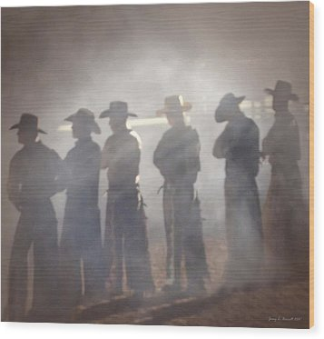Cowboys Wood Print by Jerry L Barrett