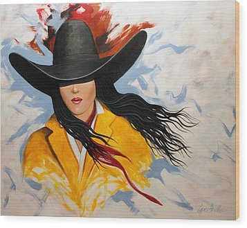 Cowgirl Colors #3 Wood Print by Lance Headlee