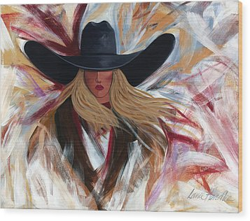 Cowgirl Colors Wood Print by Lance Headlee