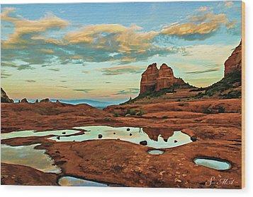 Cowpie 07-059 Wood Print by Scott McAllister