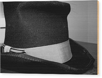 Coy's Hat Wood Print by Gina  Zhidov