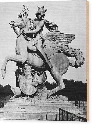 Coysevox: Mercury & Pegasus Wood Print by Granger