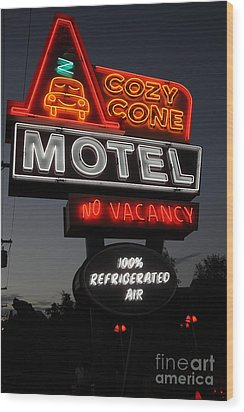 Cozy Cone Motel - Radiator Springs Cars Land - Disney California Adventure - 5d17746 Wood Print by Wingsdomain Art and Photography