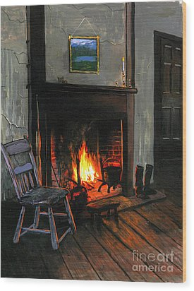 Cozy Wood Print by Robert Foster
