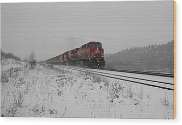 Cp Rail 2 Wood Print by Stuart Turnbull