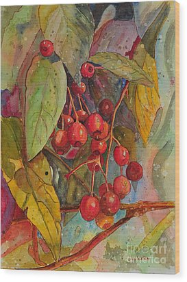 Crab Apples I Wood Print