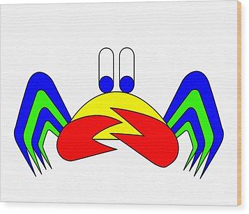 Crab-mac-claw The Crab Wood Print by Asbjorn Lonvig