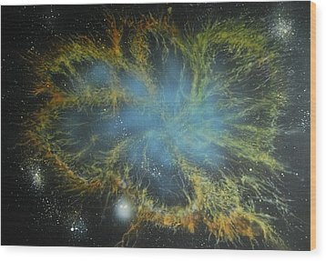 Crab Nebula Wood Print by DC Decker