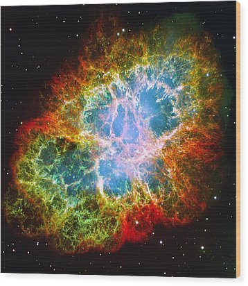 Crab Nebula Wood Print by Don Hammond
