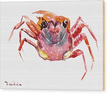 Crab Wood Print by Suren Nersisyan