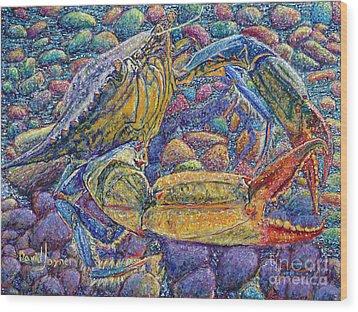 Crabby Wood Print