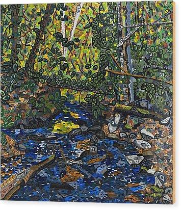 Crabtree Creek Wood Print by Micah Mullen